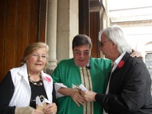 María Rosa Costa de Arguibel, Monseñor Jorge Luis Lagazio, Dr. Horacio Vicente López