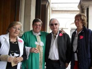 María Rosa Costa de Arguibel, Monseñor Jorge Luis Lagazio y Martha Allen