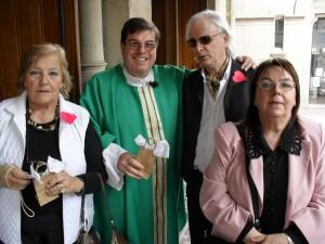 María Rosa Costa de Arguibel, Monseñor Jorge Luis Lagazio, Dr. Horacio Vicente López y Celia Codeseira del Castillo