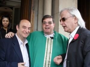 Dr. Alberto David Leiva, Monseñor Jorge Luis Lagazio y Horacio Vicente López
