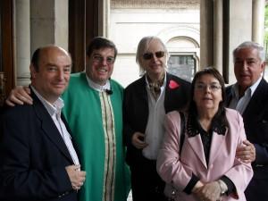 Dr. Alberto David Leiva, Monseñor Jorge Luis Lagazio, Horacio Vicente López, Celia Codeseira del Castillo y Blas Coria