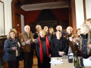 Miembros del Instituto e integrantes de la Federación de Entidades de Estudios Históricos de la Provincia de Buenos Aires