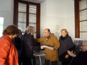 Prof. Mabel Trifaro, Prof. Nora de Fasani, Dr. Alberto David Leiva y  Sra. María Rosa Costa Arguibel de Donadío y Dr. Hugo José Garavelli.