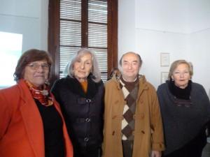 Prof. Mabel Trifaro,Prof. Nora de Fasani, Dr. Alberto David Leiva y Sra. María Rosa Costa Arguibel de Donadío.